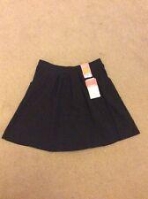 BNWT Girls Age 11-12 M&S Black Cotton Rich Skirt