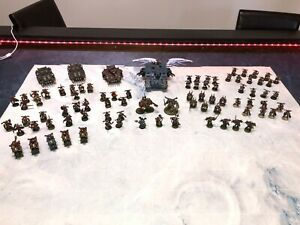 Warhammer 40K Chaos Space Marine Army! 86 Miniatures Fully Painted!