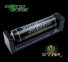 XTAR ® mc1 caricabatterie USB universale 18650 26650 14500 batterie + opticfire BATTERIA