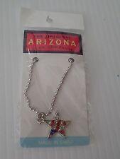 Arizona Jean Company star Keyring Key Chain red white blue star glittery
