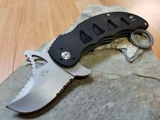 Mantis Snaggletooth I Folding Knife Black G10 Modified Clip Karambit MKF813