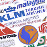 52x Airline Logo Aufkleber Luftfahrt Reise Koffer LaptopDecor Wasserdichte DIYYR