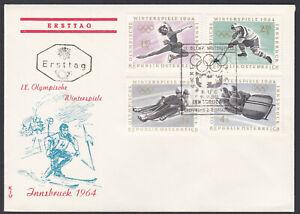 Austria FDC 1963 – Michel 1139/42 Yvert 977/80 Scott 714/17 First Day Cover