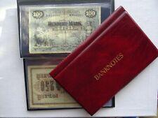 BANKNOTE ALBUM WALLET STORAGE BOOK ,FOLDER FOR BANKNOTES ( BURGUNDY )