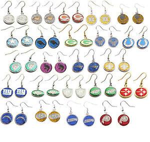 glitter earring dangle charm NFL Pick your team