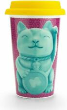 LUCKY CAT DOUBLE WALL MUG Travel on the go Mug with Lid