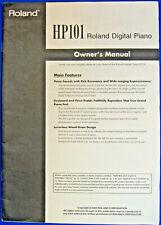Roland HP101 Digital Piano Keyboard Original Owner's Users Manual Book