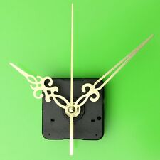 Gold Hands Wall Quartz Black DIY Clock Spindle Movement Mechanism Repair Kit NEW