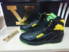 VVVNDS 2005 Puma Cat Hi Top sz 11 Vintage Black / Green Flash / Vibrant Yellow