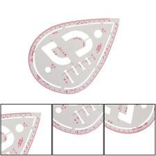 Multifunción plástico regla botón curva de corte ropa Costura bolsillo