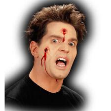 Halloween Schusswunde Tattoo Wunde Horror Latexwunde Latex Wunden Schusswunden