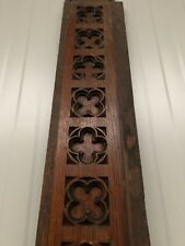 Stunning Large Gothic Church Tracery Pediment carving  in oak