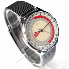 Vintage soviet large watch RAKETA 24 Hour. made in USSR.  SZRP Limited Edition