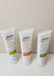 Raw Sugar NON DRYING Hand Sanitation 3 for 1 Variety 99.9% Effective VEGAN Seal