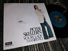 "PETER SKELLERN YOU'RE LADY/MANIFESTO 7"" SINGLE 1972 DECCA SPAIN ESPAÑA"