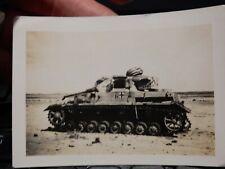 WW2 ORIGINAL PHOTOGRAPH TANK GRAVEYARD CEMETERY  North Africa  B