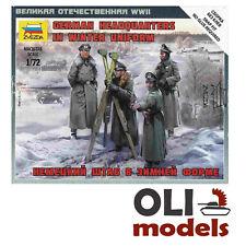 1/72 WW2 GERMAN HEADQUARTERS in WINTER UNIFORM Figures Set - Zvezda 6232