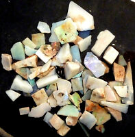 Parcel of Multicolour Australian Andamooka Rough Opal Slices 1.2oz  (2528b)