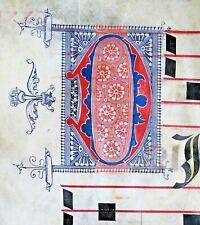 Huge deco. Antiphonary Manuscript Lf.Vellum,fancy D&V&unusual D initials,c.1500