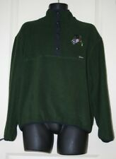 Men's Woolrich Embroidered Duck Dog Snap Fleece Pullover Green Jacket Size L