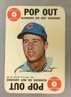 1968 TOPPS GAME RON SANTO 19 CUBS HOF CARD CHICAGO BASEBALL INSERT VG