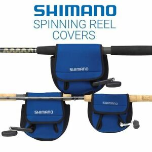 Shimano Spinning Reel Neoprene Protective Cover Pouch - Blue - Sizes 500-14000