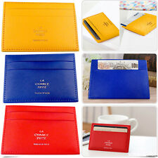 Unisex Men Women Leather Small Id Credit Card Wallet Holder Slim Pocket trendy