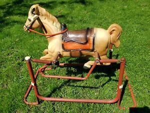 1980 Vtg Cheyenne Wonder Horse Rocking Spring  Childs Toy