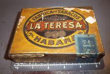 Vintage La Teresa Tobacco tin, fabrica de tabacos, Habana claro, Great Graphics