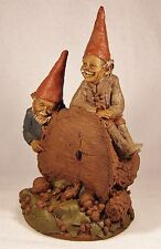 WOODY AND CHANE 1983~Tm Clark Gnome-Figurine~Cairn #1015~Retired~Ed 35~COA~Story