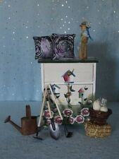 "AllforDoll OOAK DIORAMA Furniture CABINET for 12-16"" Doll - Kish BJD Tonner Gene"