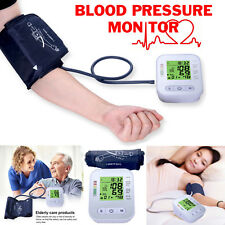UK Automatic Blood Pressure Monitor Upper Arm Digital BP Machine With Large Cuff
