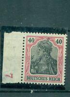 Deutsches Reich, Germania  Nr. 90 II **Plattennummer