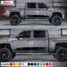 Decal Graphic Vinyl Side Stripes for Chevrolet Silverado 2014-2017 Grill Flare