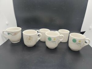 Syracuse China Fanfare And Other Teacups Retro 1950s Mid Century