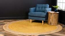 Hand Braided Round Jute Rugs Floor Mats Living Area Durrie Rag Rug 360 x 360 CM