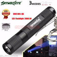 New Mini 3000LM Zoomable CREE Q5 LED Flashlight 3 Mode Torch Super Bright Light