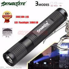 Mini 3000LM CREE Q5 LED Flashlight 3 Mode Torch Super Bright Camping Light Lamp
