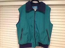 Vintage Woolrich Vest Mens Large Green Blue Fleece The TETON Group Winter L