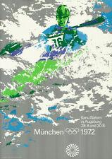 Olympische Spiele 1972 München Motiv Kanu DIN A0 OLYMPIADE Otl Aicher