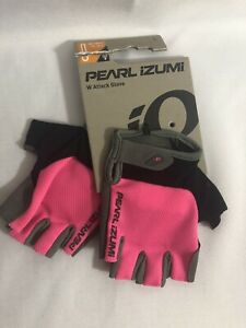 Pearl Izumi Attack Bike Gloves  Size Large Screaming Pink Color Half Fingers