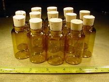 12 Stück 30 ml braune Glasflasche mit Korkstopfen Flaschen  für Globuli weithals