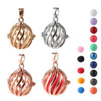 Gold/Silver Fragrance Oil Diffuser Copper Bola Ball Locket Pendant DIY Necklace