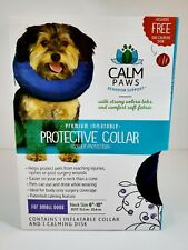 "Calm Paws Premium Inflatable BLUE Protective Dog Collar Size Small - Neck: 6""-10"