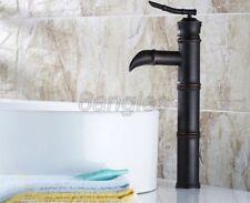Black Oil Rubbed Brass Bamboo Shape Bath Vessel Sink Faucet Mixer Tap 8nf165
