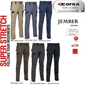 Pantaloni da Lavoro Multitasca COFRA modello JEMBER Elasticizzati Slim stretch