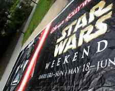 STAR WARS Prop Darth Vader sign Huge STAR WARS Poster 44ftX14ft Super Rare!
