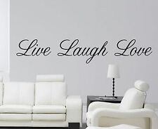 Live Laugh Love wall art sticker vinyl decal quote wall decal