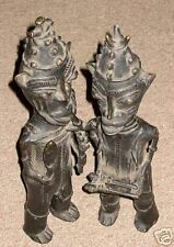 A pair of Ogoni Bronze figures from Nigeria