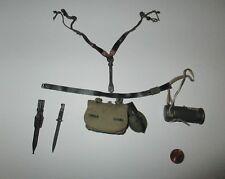 DID 1/6 WWII German 3rd WSS Division MG34 Machine Gunner Baldric Curtis Gear Set